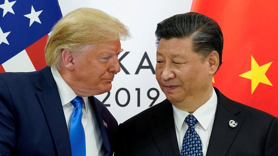 Presidente dos EUA, Donald Trump, e presidente da China, Xi Jinping, durante encontro do G20 - Kevin Lamarque