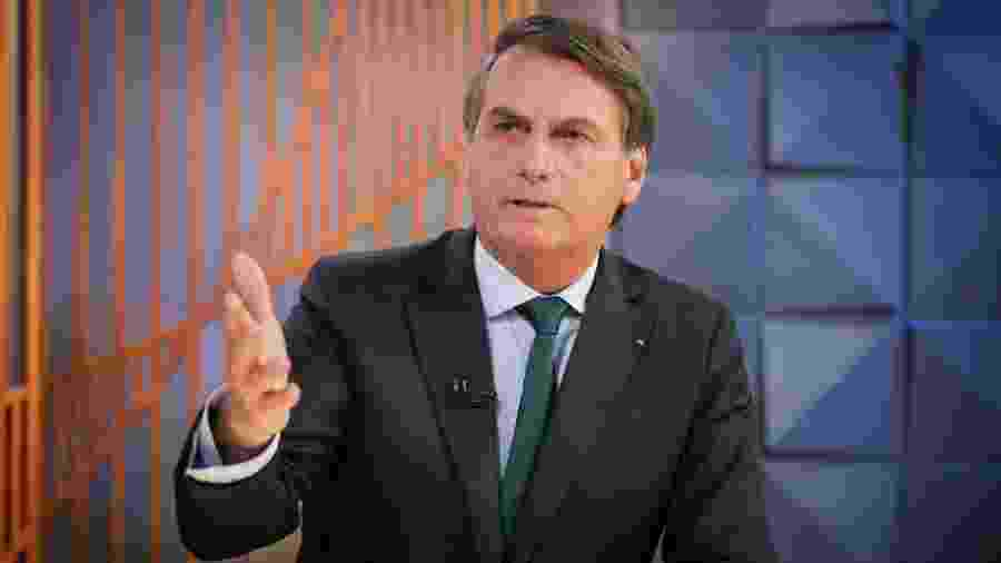 O presidente Jair Bolsonaro durante entrevista concedida ao programa Poder em Foco, do SBT - Sérgio Lima/Poder360