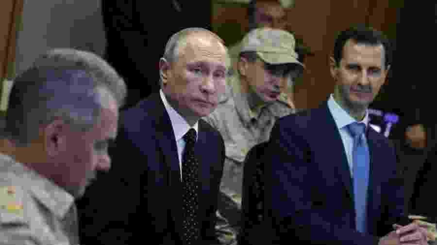 O apoio de Putin ao presidente Bashar al-Assad mudou o curso da Guerra Civil na Síria - TASS/GETTY