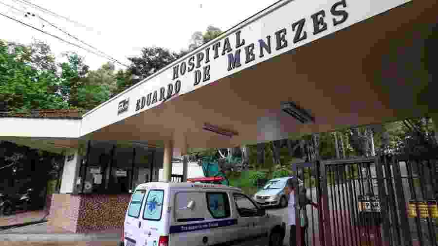 Fachada do Hospital Eduardo de Menezes, em Belo Horizonte, para onde foi levada uma paciente com suspeita de coronavírus - Flávio Tavares/Estadão Conteúdo