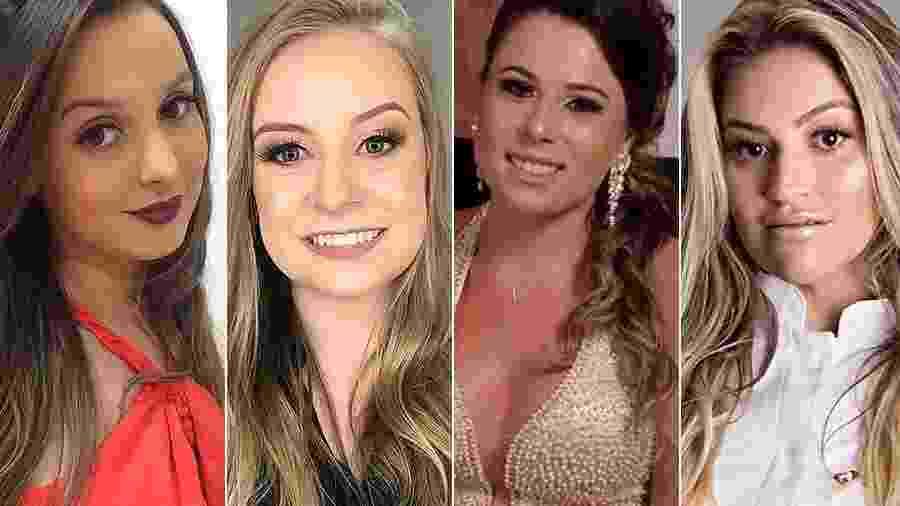 Bruna Santos, Bruna Silvestro, Ana Caroline e Paloma Valter voltavam do Carnaval e morreram em acidente na estrada - Reprodução/Redes sociais