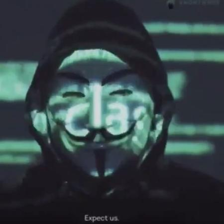 Anonymous publicou vídeo de mais de um minuto com ameaças à polícia dos EUA - Reprodução/Twitter