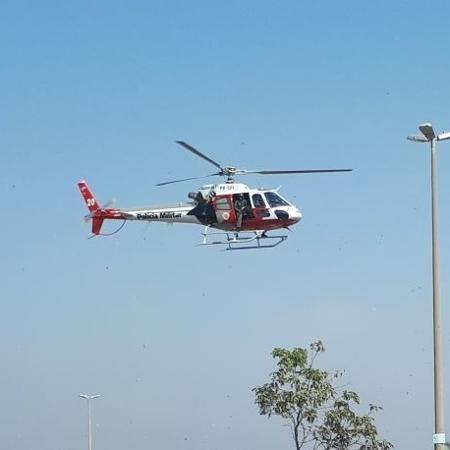 Imagem de helicóptero da PM de SP - Divulgação/PM-SP
