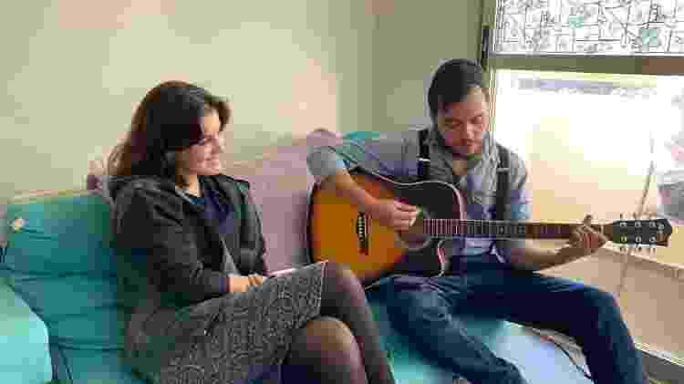 Esther e Levi, em seu segundo encontro - Arquivo Pessoal/Levi Yitzchak - Arquivo Pessoal/Levi Yitzchak