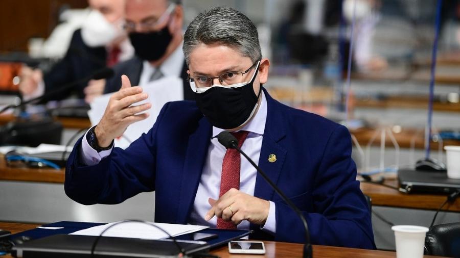 13.mai.2021 - O senador Alessandro Vieira (Cidadania-SE), suplente da CPI da Covid - Pedro França/Agência Senado