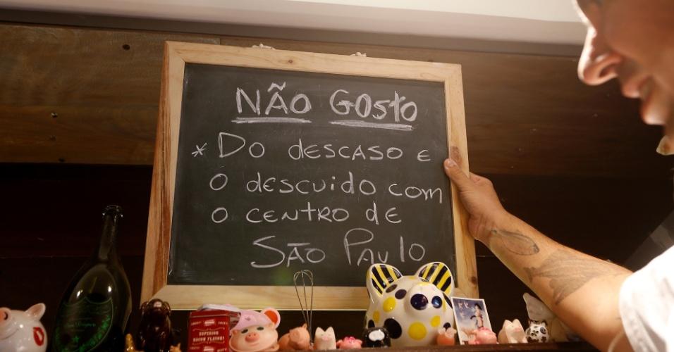 Natural de São José do Rio Pardo, este morador de São Paulo é um grande entusiasta do Centro da cidade. Ele é responsável por pontos muito movimentados da região.