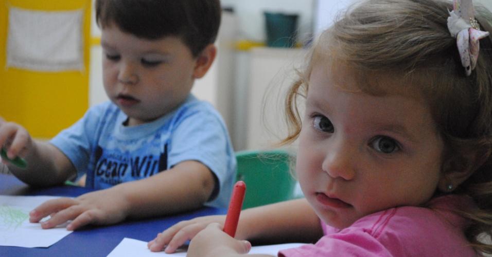 Giovanna e Guilherme - Seis duplas de gêmeos estão na mesma creche em Florianópolis