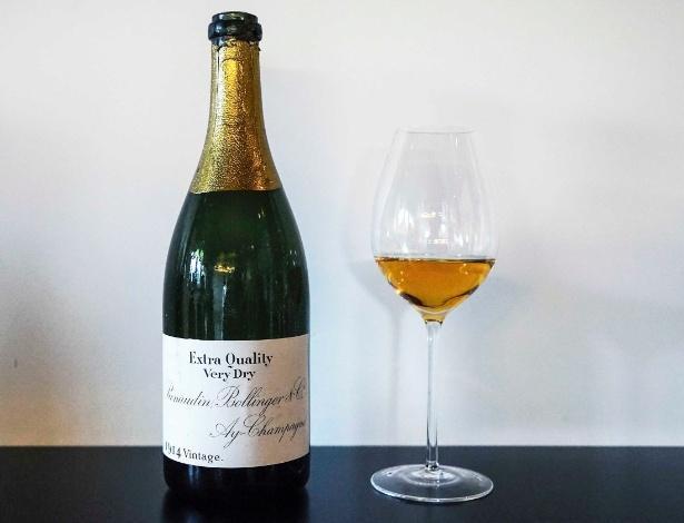 Uma garrafa de champanhe Bollinger de 1914 é o destaque do leilão que será realizado em novembro
