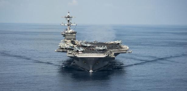 O porta-aviões USS Carl Vinson, dos EUA - Marinha dos EUA via AFP