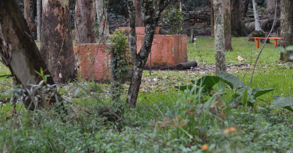26.abr.2017 - Área de churrasqueiras no parque do Carmo, na zona leste de São Paulo