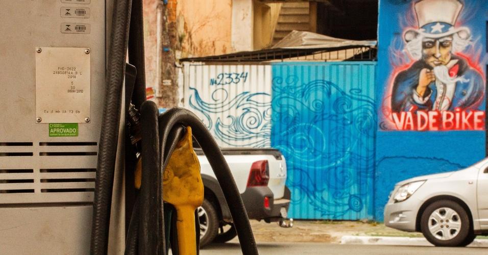 Posto sem combustível no bairro da Água Funda, na zona sul de São Paulo, na manhã desta sexta-feira (25). Devido à greve dos caminhoneiros, os problemas com abastecimento de combustível devem continuar