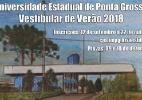 UEPG (PR) inicia inscrições do Vestibular de Verão 2018 - uepg