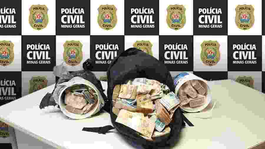 Mais de R$ 1 milhão foram roubados de uma casa em MG; polícia já recuperou R$ 730 mil - Divulgação/Polícia Civil de Minas Gerais