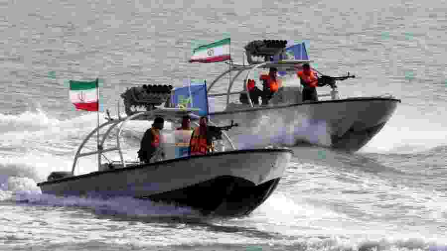A Guarda Revolucionária Iraniana é responsável por patrulhar a região do Estreito de Ormuz - AFP
