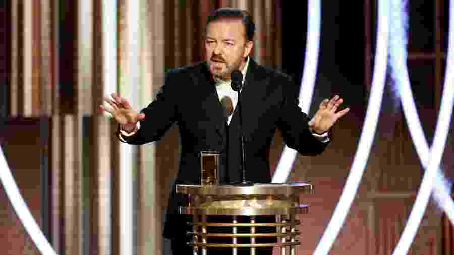 Ricky Gervais apresentou a última edição do Globo de Ouro, em Beverly Hills - HANDOUT