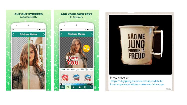 Personal Sticker Make: Stickers no WhatsApp - Reprodução - Reprodução