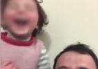 Pai que fazia filha rir para se distrair de bombas sai da Síria (Foto: Reprodução)