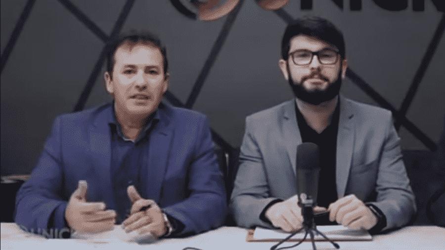 Leidimar Lopes (à esquerda) e Danter Silva - Reprodução