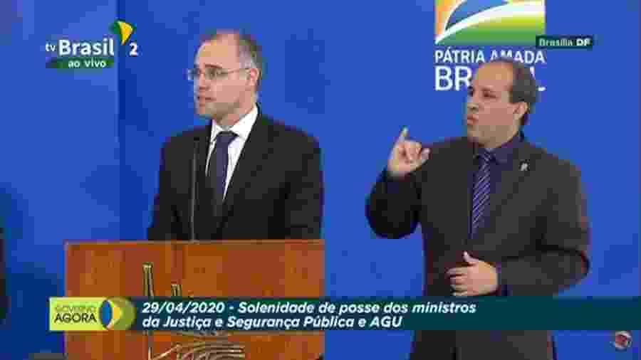 André Mendonça toma posse como novo ministro da Justiça - TV Brasil/Reprodução