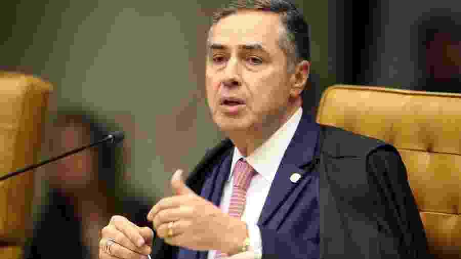18.mar.2020 - O ministro do STF, Luís Roberto Barroso, em sessão administrativa da Corte - Nelson Jr./SCO/STF