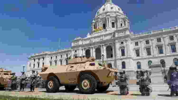 A Guarda Nacional, formada por reservistas voluntários, foi acionada em várias cidades americanas - Getty Images - Getty Images