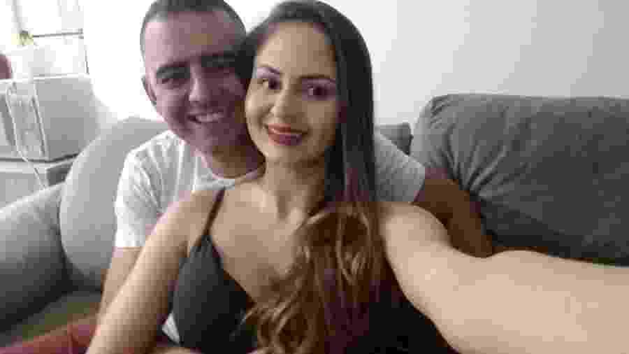 Bianca Romando Magri e José Valdir de Oliveira Junior; ele era sargento da PM e morreu em uma troca de tiros em SP - Arquivo pessoal