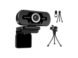 Webcam USB Full HD 1080P Microfone Embutido WB Amplo Ângulo 110° + Tripé - Amazon - Amazon