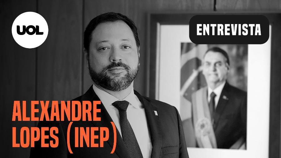 Alexandre Lopes, presidente do Inep, participa do UOL Entrevista - Arte UOL