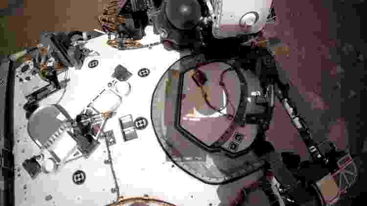 Perseverance - visão do convés - Nasa/JPL-Caltech - Nasa/JPL-Caltech