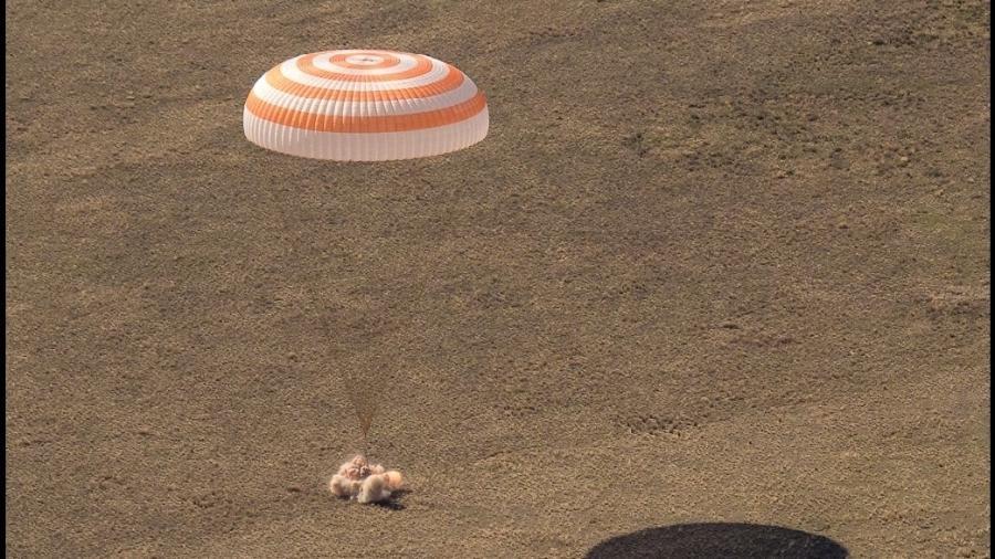 Após 185 dias no espaço, Kate Rubins, Sergey Ryzhikov e Sergey Kud-Sverchkov voltam à Terra - Divulgação/Nasa
