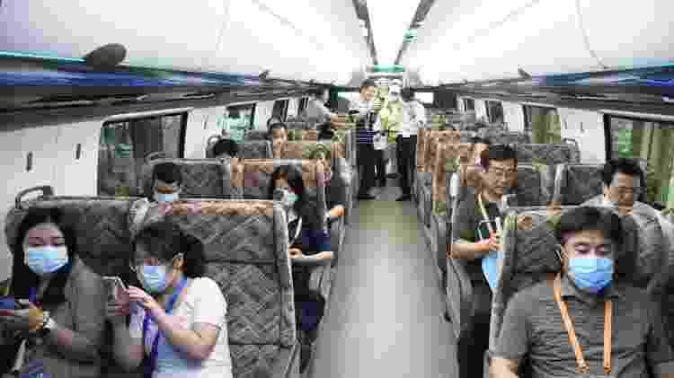 Passageiros na China - Xinhua/Divulgação - Xinhua/Divulgação