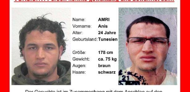 Tunisiano Anis Amri, 24, é procurado