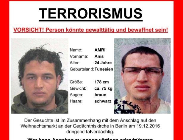 Alemanha divulga foto do suspeito Anis Amri  - Reuters