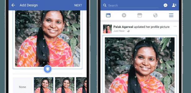 Facebook testa recurso para evitar roubo de fotos do perfil - filtro - Divulgação - Divulgação