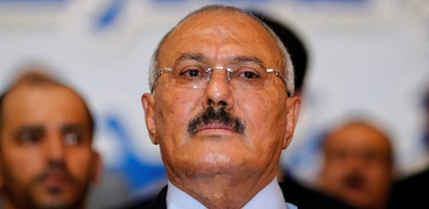 O ex-presidente do Iêmen, Ali Abdullah Saleh, durante cerimônia em 2012, em Sanaa