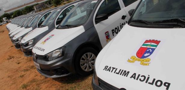 10.jan.2018 - Novos carros que a Polícia Miliar do RN vai passar a usar após o fim da paralisação dos policiais
