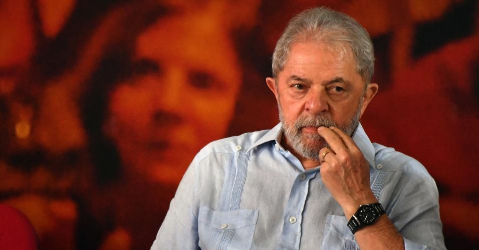 25.jan.2018 - O ex-presidente Luiz Inácio Lula da Silva (PT), um dia após ser condenado em segunda instância