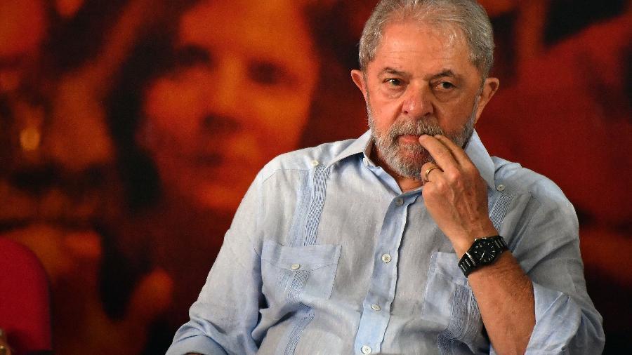 O ex-presidente Luiz Inácio Lula da Silva (PT), um dia após ser condenado em segunda instância - Nelson Almeida 25.jan.2018/AFP