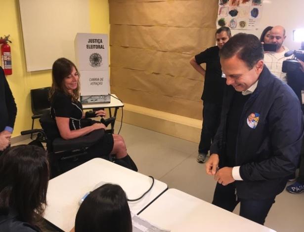 João Doria vota em São Paulo