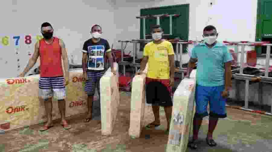 Trabalhadores resolveram se isolar numa escola municipal de Aroazes - Secretaria De Saúde De Aroazes/Divulgação