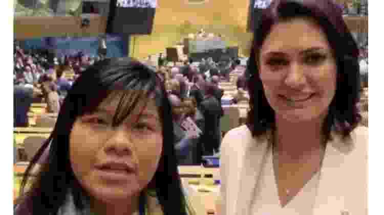 Ysani e Michelle Bolsonaro - Reprodução - Reprodução