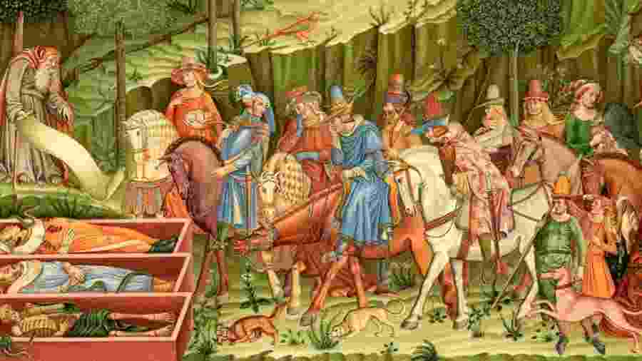 """""""O triunfo da morte"""" representa o que aconteceu no século 14 - Getty Images"""
