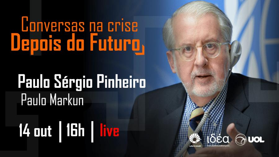 Paulo Sérgio Pinheiro no Conversas na Crise (14/10/20) - Arte/IdEA-Unicamp