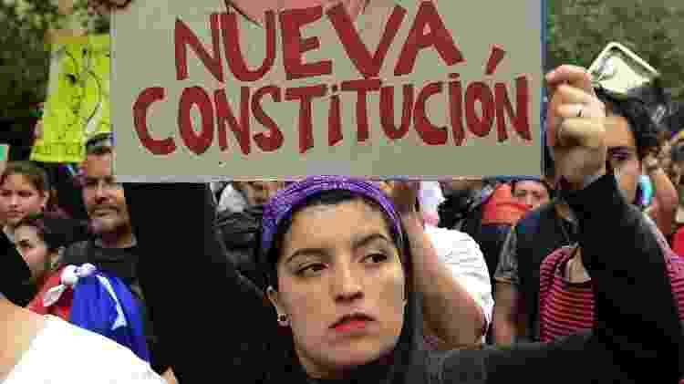 Uma das principais reivindicações dos manifestantes foi justamente a reforma da Constituição - Getty Images - Getty Images