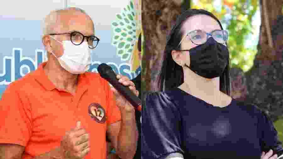 Edvaldo (PDT) e Delegada Danielle (Cidadania), adversários no 2º turno das eleições em Aracaju (SE) - Reprodução/Facebook