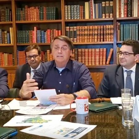 Jair Bolsonaro participa de live - Reprodução/Facebook/Jair Messias Bolsonaro