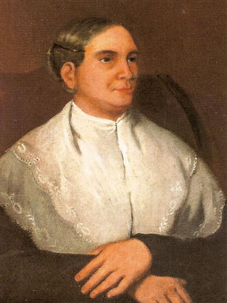 Retrato de María Antonia Bolívar, de 1830, pintado por Lewis Brian Adams - Domínio Público