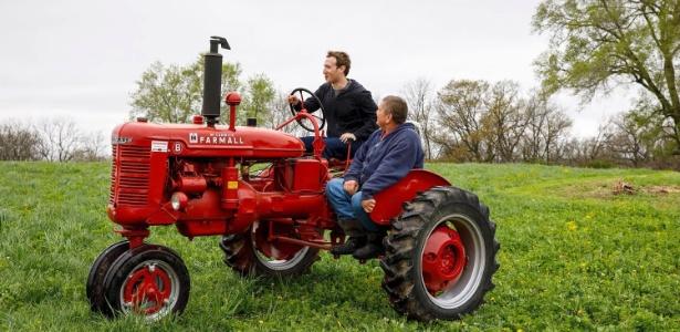 Mark Zuckerberg visita fazenda em Blanchardville, no Estado do Wisconsin