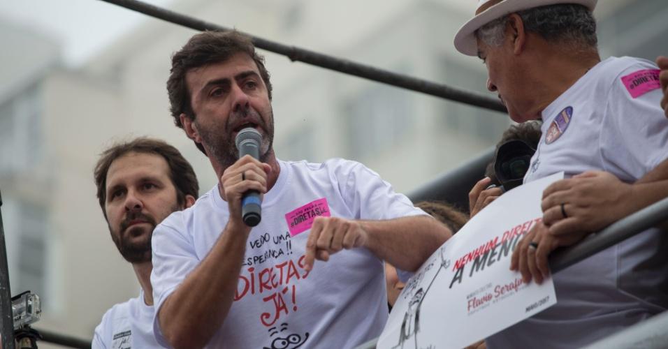 28.mai.2017 - O deputado estadual Marcelo Freixo (PSOL-R) defende que sejam realizadas eleições diretas para escolher o novo presidente do país