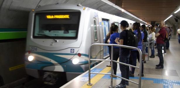 Movimentação do Metrô na Estação Consolação
